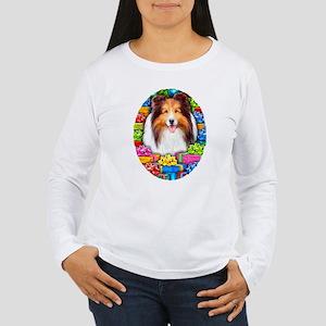 Sheltie Christmas Sable Women's Long Sleeve T-Shir