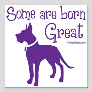 "Born Great Square Car Magnet 3"" X 3"""
