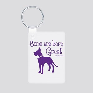 Born Great Aluminum Photo Keychain Keychains