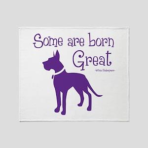 BORN GREAT Throw Blanket