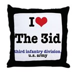 I (Heart) the 3ID Throw Pillow