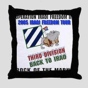 2005 OIF III Freedom Tour Throw Pillow