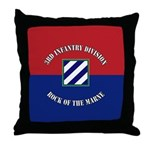 3ID Rock of the Marne Throw Pillow
