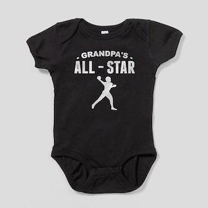 Grandpa's All-Star Football Baby Bodysuit