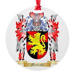 Mattiato Round Ornament