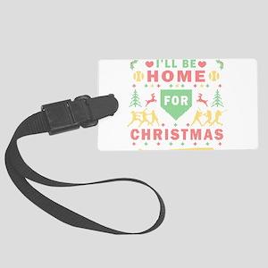 I'll be Home Fastpitch Softball Ugly Christmas Lug