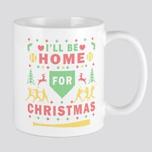 I'll be Home Fastpitch Softball Ugly Christmas Mug