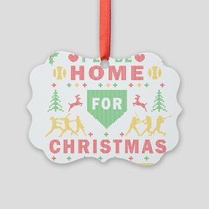 I'll be Home Fastpitch Softball Ugly Christmas Orn