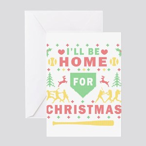 I'll be Home Fastpitch Softball Ugly Christmas Gre