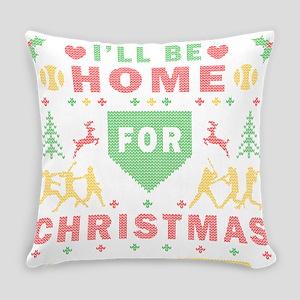 I'll be Home Fastpitch Softball Ugly Christmas Eve