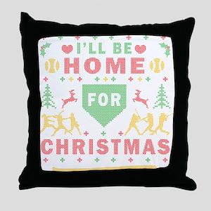 I'll be Home Fastpitch Softball Ugly Christmas Thr
