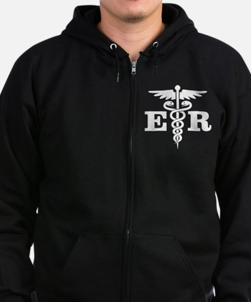 Cute Emergency room Zip Hoodie (dark)