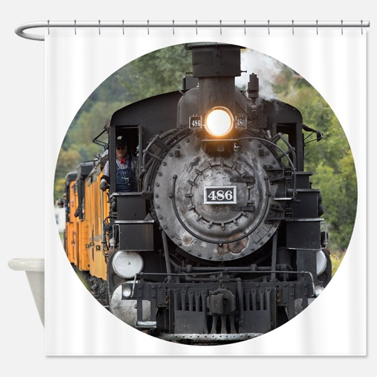 Cool Steam engine Shower Curtain