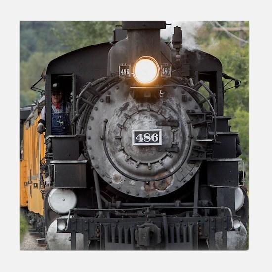 Unique Steam train Tile Coaster