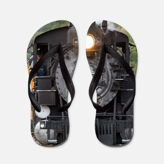 Cute Trains Flip Flops