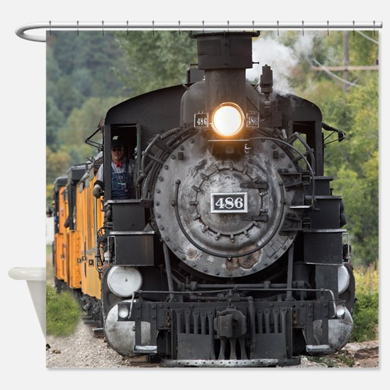 Funny Steam engine Shower Curtain