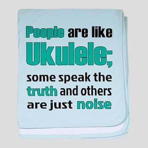 People are like Ukulele baby blanket