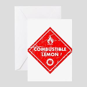 Combustible lemon - Portal 2 Greeting Cards