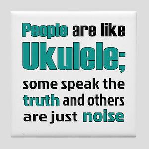 People are like Ukulele Tile Coaster