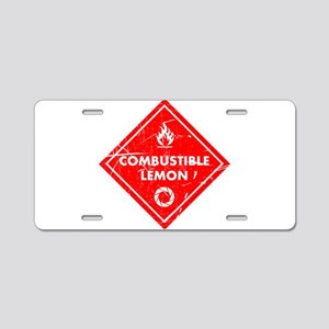 Combustible lemon - Portal Aluminum License Plate
