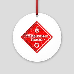 Combustible lemon - Portal 2 Round Ornament