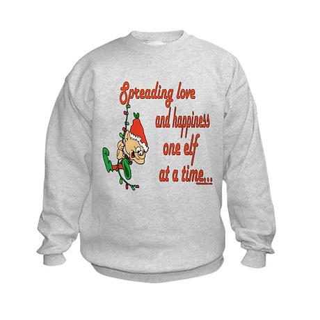 Spreading Love Elves Kids Sweatshirt
