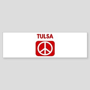 TULSA for peace Bumper Sticker