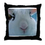 up close cute nose Hotot Bunny Rabbit Throw Pillow