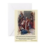 Jesus as Child in Temple Greeting Cards (Pk of 10)