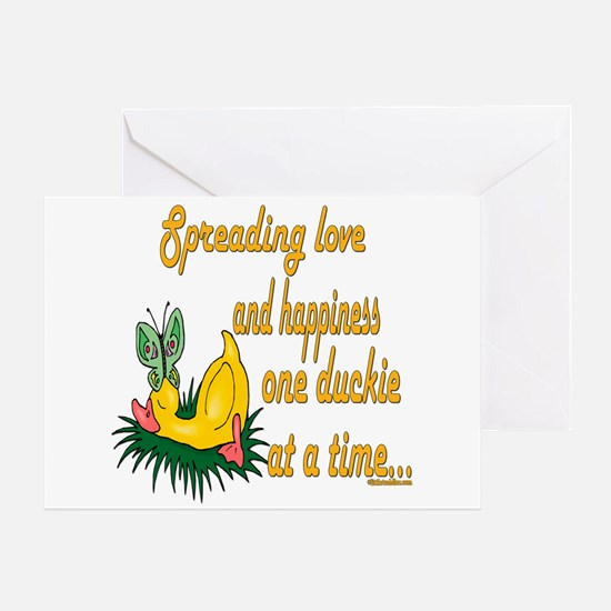 Spreading Love Ducks Greeting Card