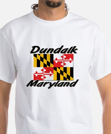 Dundalk Maryland White T-Shirt