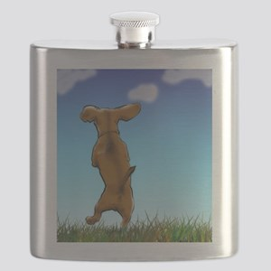 Happy Dachshund Flask