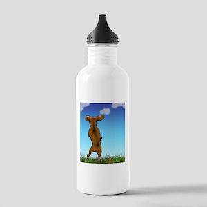 Happy Dachshund Water Bottle