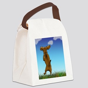 Happy Dachshund Canvas Lunch Bag