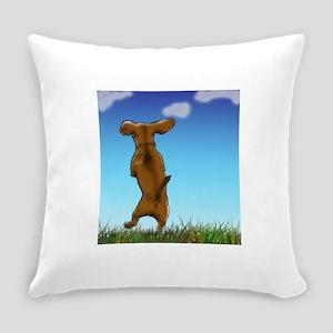 Happy Dachshund Everyday Pillow