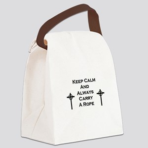 Keep Calm and Carry Rope Canvas Lunch Bag