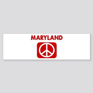 MARYLAND for peace Bumper Sticker