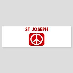 ST JOSEPH for peace Bumper Sticker