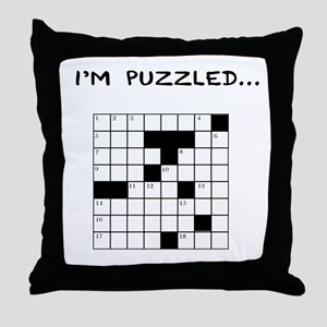 I'm puzzled Throw Pillow