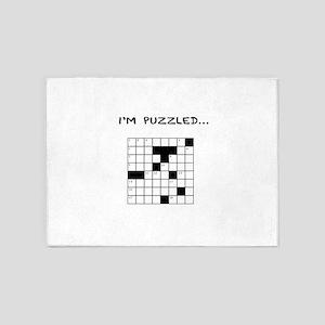 I'm puzzled 5'x7'Area Rug
