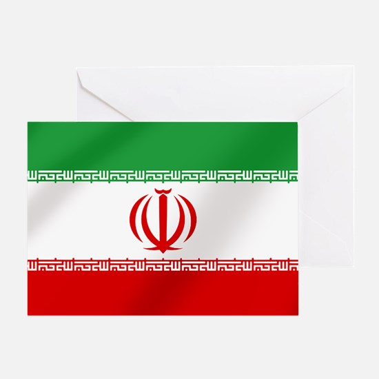 Flag Of Iran Greeting Cards
