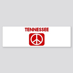 TENNESSEE for peace Bumper Sticker