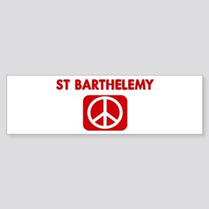 ST BARTHELEMY for peace Bumper Sticker