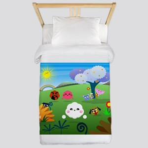 Happy Colorful Planet 01 Twin Duvet