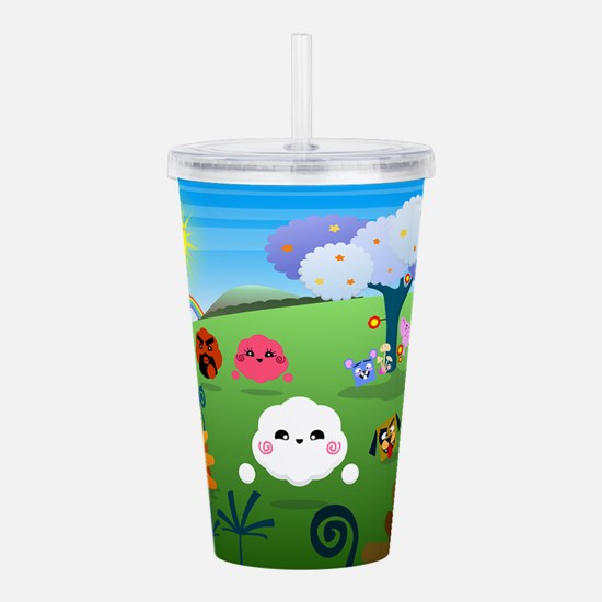 Happy Colorful Planet Acrylic Double-wall Tumbler