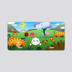 Happy Colorful Planet 01 Aluminum License Plate