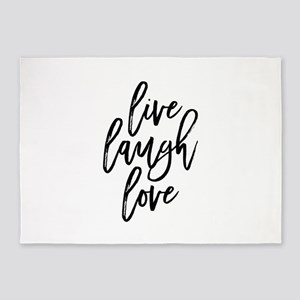 Live Laugh Love 5'x7'Area Rug