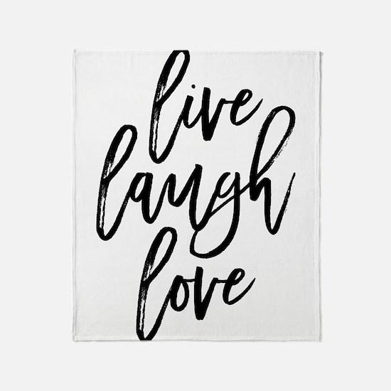 Live Laugh Love Throw Blanket