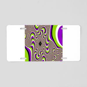 optical illusion Aluminum License Plate