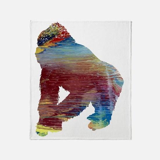 Funny Gorilla Throw Blanket